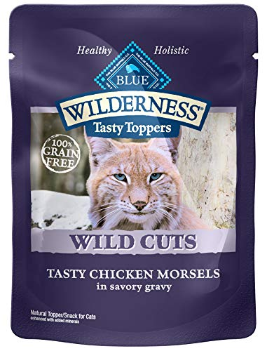 Blue Buffalo Wilderness High Protein Grain Free, Natural Wild Cuts Adult Wet Cat Food Pouch