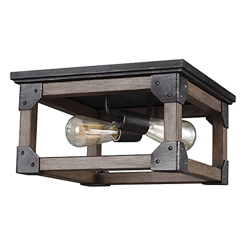 Sea Gull Lighting 7513302-846 Dunning Two-Light Flush Mount Ceiling Light, Stardust Finish
