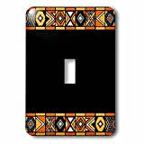 3dRose LLC lsp_76554_1 Traditional African Patternm Art Of Africa Inspired By Zulu Beadwork Geometric Designsm Ethnic Single Toggle Switch