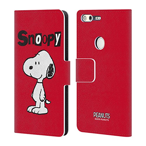 (Official Peanuts Snoopy Characters Leather Book Wallet Case Cover For Google Pixel)