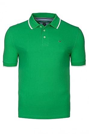 6b78c8b1b Mens Tommy Hilfiger Mens Pique Polo Shirt in Green - L: Amazon.co.uk:  Clothing