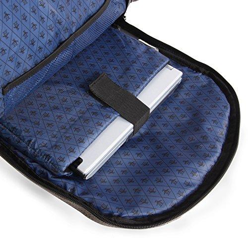 51RTvi8LUGL - ORIGINAL PENGUIN Odell 9 Pocket Laptop/Tablet Backpack Briefcase, Charcoal, One Size