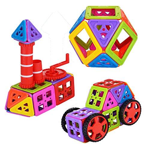 Newisland 66pcs Building Blocks Set, Inspiring Magnetic Stack Tiles, Creativity Toys for Kids