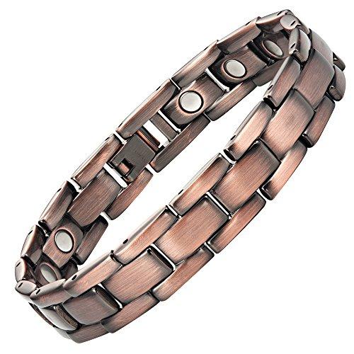Nouveauté Bracelet Aimanté homme en titane cuivré, Boîtier velours et Ustensile ajusteur inclus