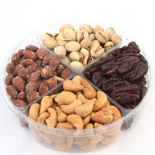 Holiday Savory Nut Gift Tray 4-Section - Oh! Nuts