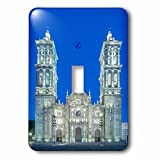 3dRose Danita Delimont - Puebla - Mexico, Puebla Cathedral, completed in the 17th century, at twilight - Light Switch Covers - single toggle switch (lsp_250467_1)