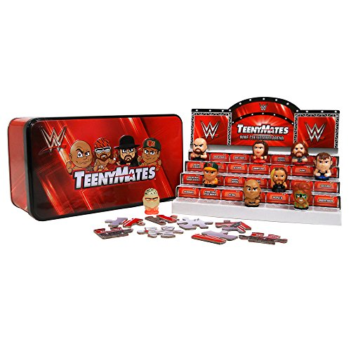 WWE TeenyMates Series 1 Collector Tin, with 4 Blind Packs and Stadium - Wwe Storage