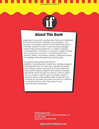 Workbook free high school reading comprehension worksheets : Reading Comprehension, Grades 7 - 8 (The 100+ SeriesTM ...