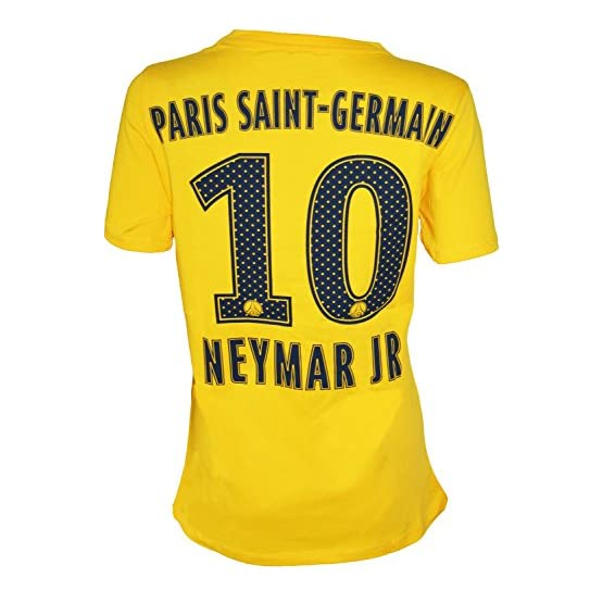 PSG T-Shirt Neymar Jr - Collection Officielle Paris Saint Germain - Taille Adulte Femme