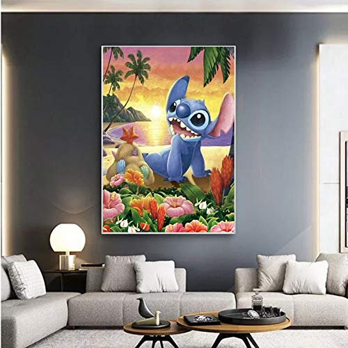NEILDEN Disney Diamond Painting Kits for Kids, Stitch Diamond Art Kits for Adults, 5D DIY Diamond Painting Round Drill for Home Wall Decor 12×16 Inch