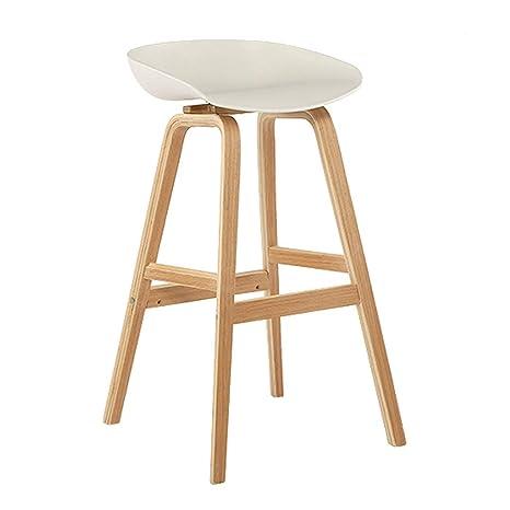 Sensational Amazon Com Solid Wood Bar Stools With Plastic Seat Modern Machost Co Dining Chair Design Ideas Machostcouk