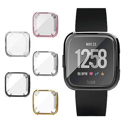 Amazon.com: Leotop - Carcasa para Fitbit Versa, ultrafina ...