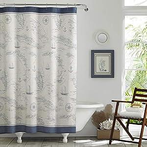 51RTxb1eM-L._SS300_ Beach Shower Curtains & Nautical Shower Curtains