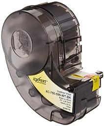 Brady XC-750-595-WT-BK IDXPERT & LABXPERT Labels  B-595 Indoor/Outdoor Vinyl Film Black on White, Printable Area: 19.000\
