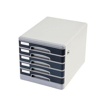 Archivadores Gabinetes de Archivo Cajón de Metal Tipo 5 Capas con Caja de Almacenamiento de Documentos