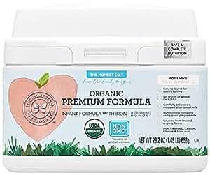 The Honest Co. Organic Non-GMO Premium Infant Formula with Iron, 23.2 Ounce