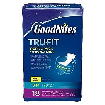 Tru-Fit real ropa interior absorbente desechable Inserta Refill Pack para Niños y Niñas,