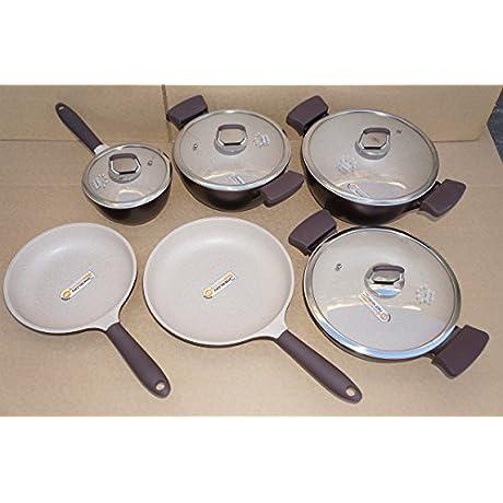 Healthy Legend Third GenerationNon Stick German Weilburger Ceramic Coating Cookware Set Pack Of 10