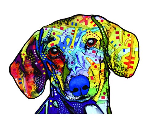 Dachshund Car Sticker, Outdoor Rated Vinyl Sticker Decal for Windows, Bumpers, Laptops or Crafts ()