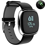 P2 Smart Band Business affairs SmartWatch P2 Blood Pressure Heart Rate Monitor Smart Bracelet Pedometer Sleep Fitness Tracker Waterproof Smart Bracelet Smart Watch for Apple IOS Android (gray)