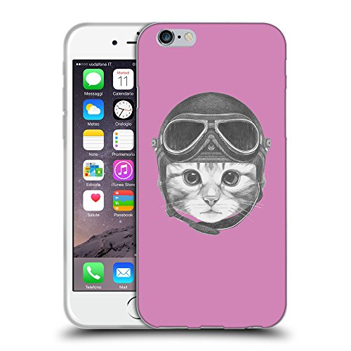 "GoGoMobile Coque de Protection TPU Silicone Case pour // Q05280618 Casque kitty Bronze // Apple iPhone 6 4.7"""