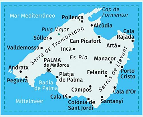 Mallorca 4 Set 4 Wanderkarten 1 35000 Im Set Inklusive Karte Zur
