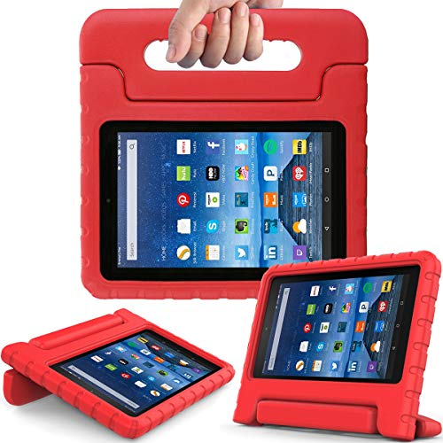 Fire 7 2017 - Light Weight Shock Proof Handle Kid-Proof Case for Fire 7 inch Display Tablet (7th Generation - 2017 Release), Red ()