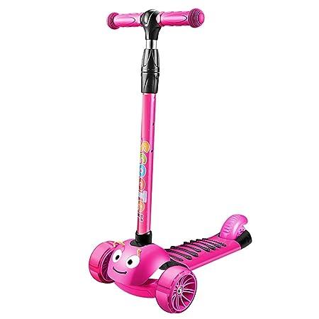 WYQ Scooter para niños de 2 a 12 años, Scooters con música y ...