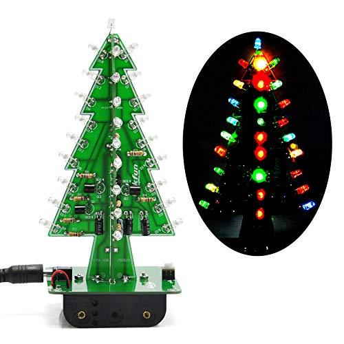 Diy Christmas Projects (Gikfun 3D Xmas Tree Led DIY Kits 7 Color Flash Circuit LED)