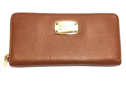 Michael Kors Luggage Brown Leather Continental Zip Around Wallet