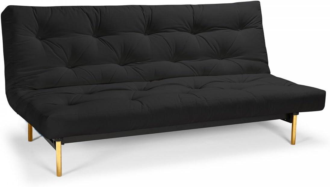 Futon sofá Frigga – Sofá-Cama 140 x 200 cm con Futon & somier, Color y Futon a Elegir.: Amazon.es: Juguetes y juegos