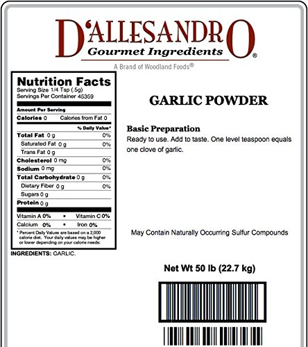 Garlic Powder, 50 Lb Bag by Woodland Ingredients