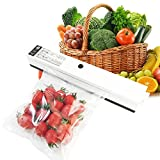 Kuger Professional Vacuum Sealer Compact Size, Automatic Vacuum Sealing System for Food Preservation