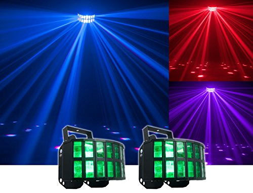 - (2) American DJ Agressor HEX LED Classic ADJ Effect Lights - Now With HEX LED Technology! (Two 12-Watt 6-In-1 Red, Green, Blue, Cyan, Amber, and White