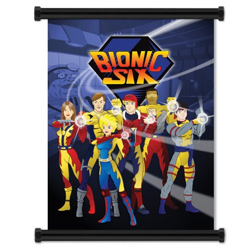 Bionic Six: Cartoon Wall Scroll Poster 16' x 21' inches
