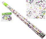 Unicorn Roll Wrapping Paper Gift Tags Set Birthday Girls Kids Party Present Wrap