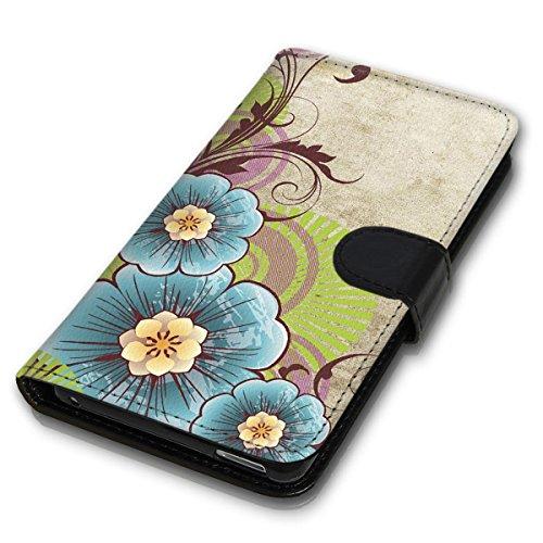 Wallet Book Style Flip Handy Tasche Case Schutz Hülle Schale Motiv Etui für Apple iPhone 4 / 4S - Design Flip MV247