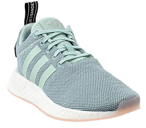 adidas Originals Women's NMD_R2 Shoes (Steel, Green, White - Size 7)