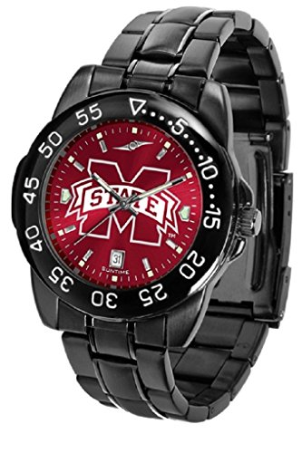 Collegiate Fantom Sport Anochrome Premium Mens Watch with gunmetal band (Mississippi State)