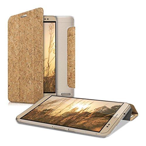 kwmobile Smart Cover Case für Huawei MediaPad X2 7.0 aus Kork in Hellbraun - Tablet Hülle mit Ständer und transparenter Rückseite