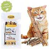 Catnip Sticks 6 Pcs Matatabi Cat Stick Catnip Chew Sticks...
