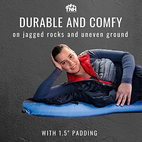 #1 Premium Self Inflating Sleeping Pad Lightweight Foam Padding and Superior Insulation Great For Hiking and Camping Construction and Thick Outer Skin