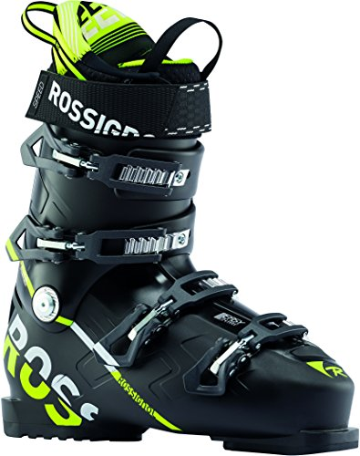 Rossignol Speed 100 Ski Boots Black/Yellow Mens Sz 10.5 (28.5) (Male Ski Boots)