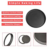 2 pack 9.5-Inch Tart Pan with Removable Loose