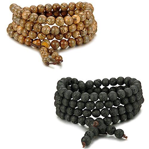 FIBO STEEL1 2 Bracelet Buddhist Adjustable