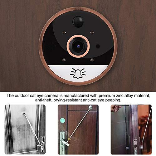 WiFi Smart Video Doorbell 4.3in 720P HD WIFI Cat Eye Camera Peephole Viewer Monitor Video Door Phone Kit IR Night Vision Motion Detection by Sonew (Image #5)