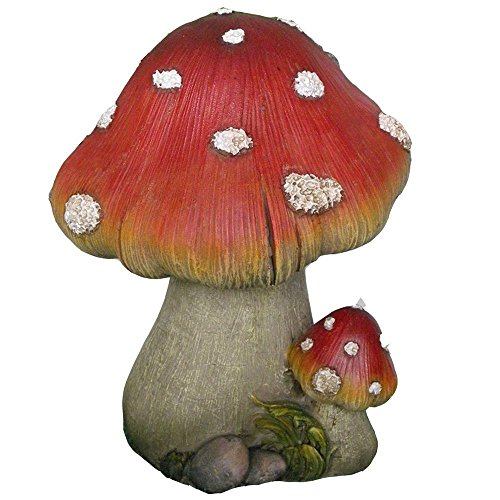 Big and Small Lucky Mushroom Garden Statue – Great Garden Decor for Outdoor Gardens and Living Spaces
