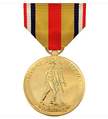 Vanguard FULL SIZE MEDAL SELECTED MARINE CORPS RESERVE - 24K GOLD PLATED