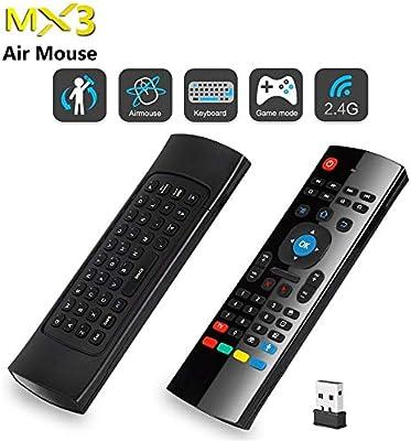 Calvas MX3 Control de voz inalámbrico Fly Air Mouse teclado 2.4 G Mini teclado Smart Control remoto para Android TV Box Smart TV: Amazon.es: Bricolaje y herramientas