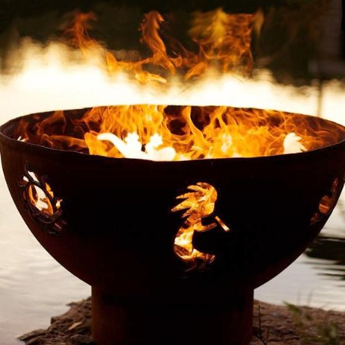 Fire Pit Art Kokopelli Wood Burning Firepit